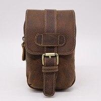 Brand Genuine Leather 6 Cell Mobile Phone Punch Case Bag Men S Cowhide Cross Belt Waist