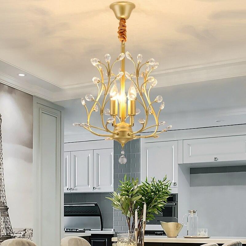 Modern Black Gold arming Hanging Pendant Lights Creative Iron Lamp Elegant Hanger for home indoor Lighting new year Decorations