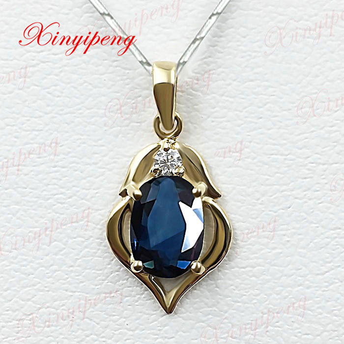 18 k yellow gold natural sapphire pendant female blue mothers day 18 k yellow gold natural sapphire pendant female blue mothers day gift in charms from jewelry accessories on aliexpress alibaba group aloadofball Image collections