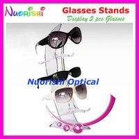 Clear Sailboat Design Eyeglass Sunglass Eyewear Glasses Store Dispaly Stands Props Shelf Holder On Counter CK306