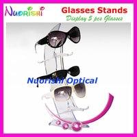Clear Sailboat Design Eyeglass Sunglass Eyewear Glasses Store Dispaly Stands Props Shelf Holder On Counter CK306