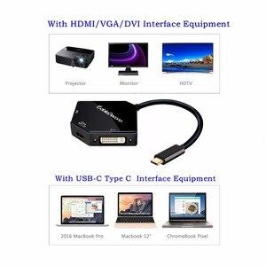 Image 5 - Thunderbolt 3 Dock Usb C Naar Hdmi Vga Dvi Adapter Multi Port 4K Kabel Voor Apple Mac Samsung S8 macbook Pro 2018 Usb C Hub