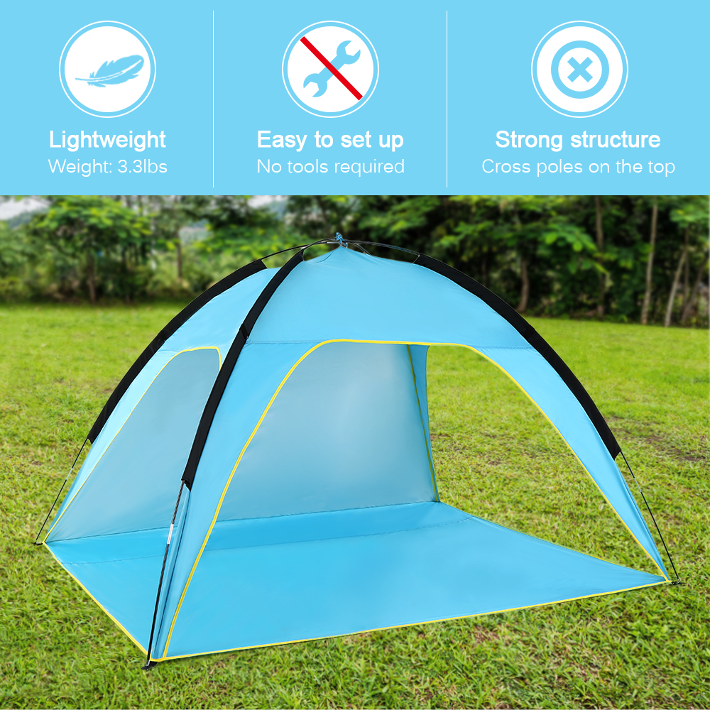 Image 5 - Lightweight Beach Tent Sun Shade Canopy UV Sun Shelter Camping Fishing Tent Camping Tent Travel Beach Tents Outdoor Camping-in Tents from Sports & Entertainment
