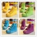 2017 nuevos niños de la manera canvas shoes zapatillas de lona de color caramelo muchachas del muchacho deportes shoes casual shoes tamaño 25 ~ 37