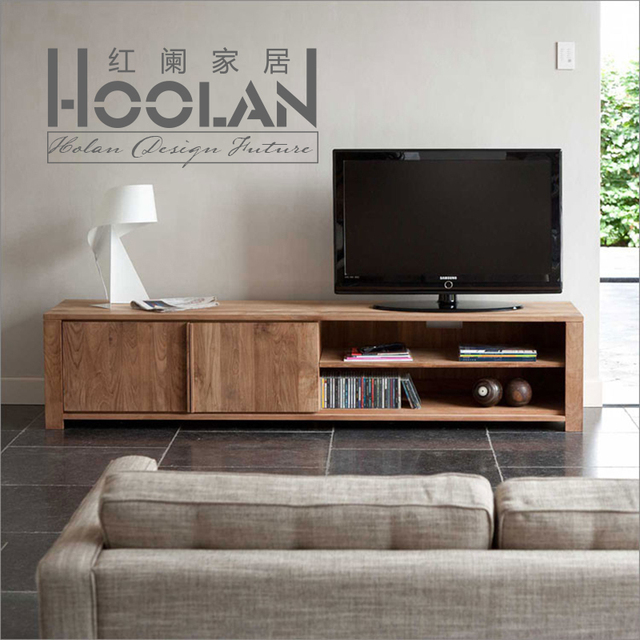 nordic ikea moderne minimalistische houten tv meubel eiken essen