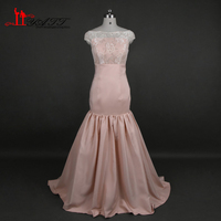 Cheap Peach Mermaid Bridesmaid Dresses 2016 Off The Shoulder Plus Size Bridesmaid Dress Long Special Occasion
