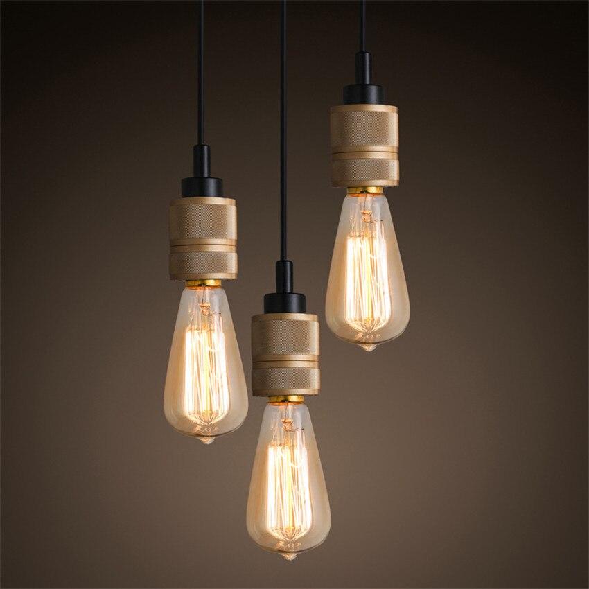 Loft Style Vintage E27 Edison Bulb Pendant Lamp Modern Retro Lights For Bar Coffee Clothing Deco Hanging Lamps
