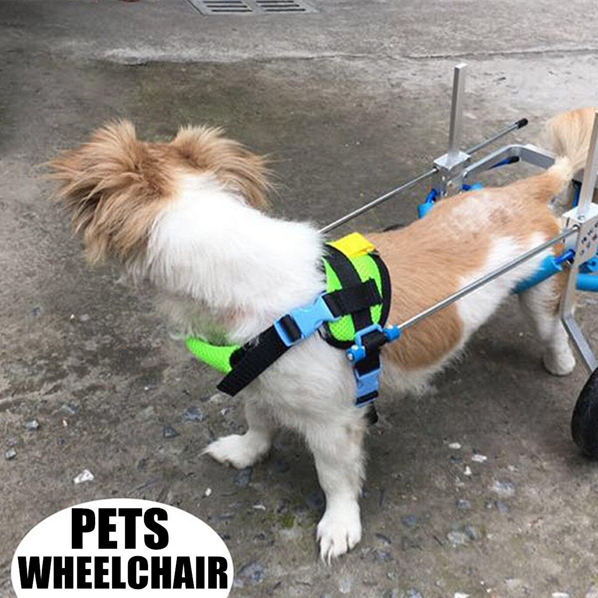 Pet Fauteuil Roulant Marcher De Traction Corde Panier Accessoires Kit Pour Handicapés Chat Chien Toutou Chiot Lumière Portable Ajusté Démonté