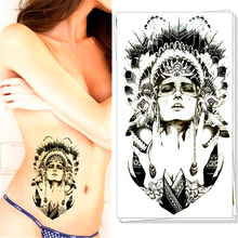 Sexy Indian Warriors Temporary Tattoo Body Art Flash Tattoo Sticker, 12*20cm Waterproof Tatoo Summer Style Adult Sex Products