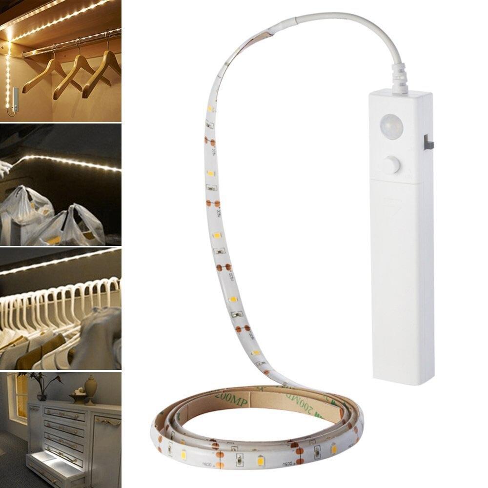 LED Dual Modus Flexible Nachtlicht Streifen Bewegungsmelder Lampe ...