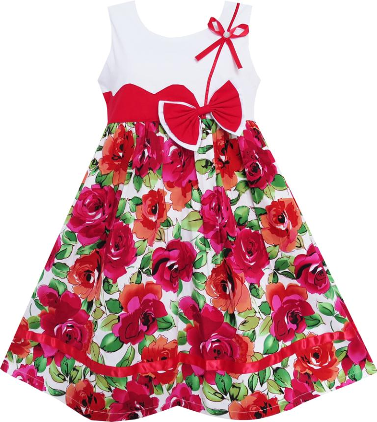 Sunny Fashion Flower Girl Dress Cute Bow Tie Floral Party Holiday Sundress Kids Cotton 2017 Summer Princess Wedding Size 3-8 new 658103 001 for g8 g9 500gb 6g 7 2k 3 5 sata sc one year warranty