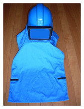 Zandstraal cape, zandstralen schouder jurk (niet inclusief helm)