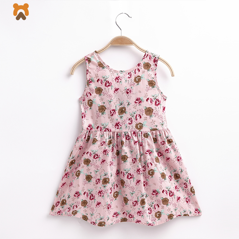 Baby Girls Dress 2018 Summer Princess Sleeveless Cotton Elegant Little Gown Dress For Kids Girls Party Casual Dresses Clothing 2016 summer style children baby girls dress princess clothing kids sleeveless casual party dresses