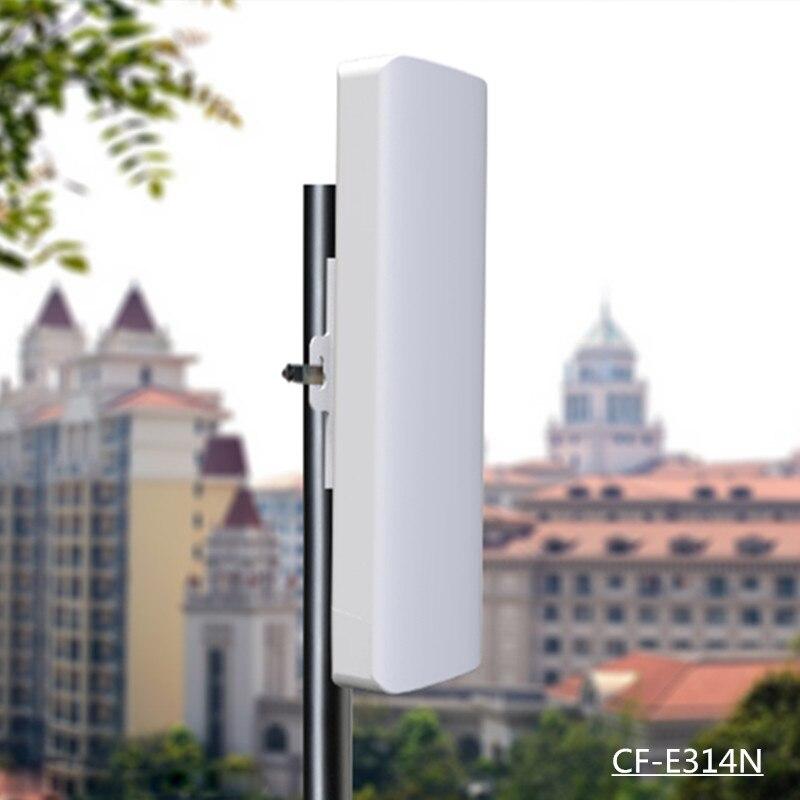 Relais sans fil COMFAST 300 Mbps antenne intégrée 14dBi répéteur WIFI 1-3 km longue transmission extérieure CPE Nanostation CF-E314NV2