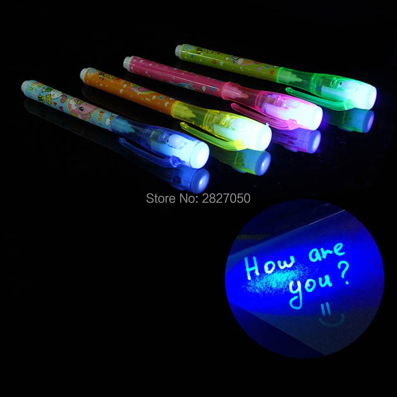 2 In 1 Black Light Combo UV Pen Marker Creative Invisible Ink Magic Pen Painting Tools Drawing toys for children gift