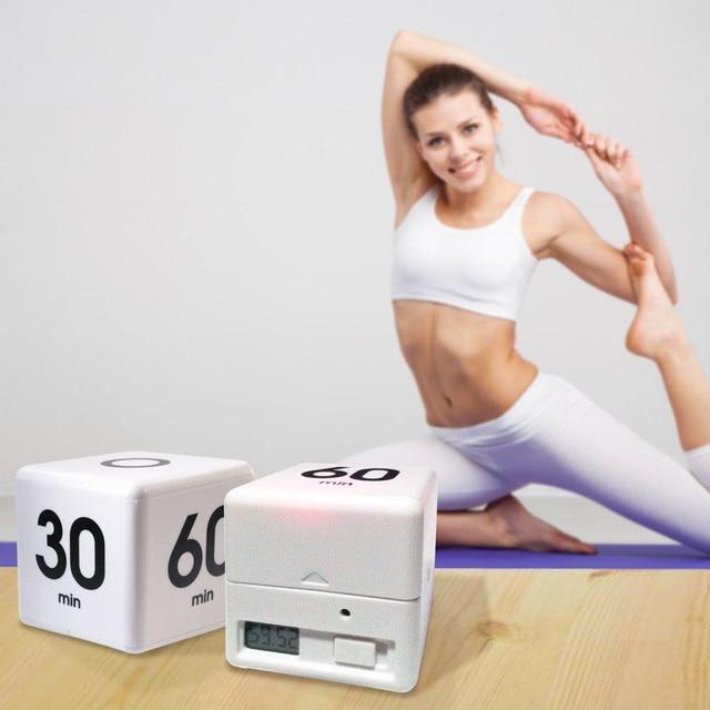 cube digital minutes timer clock 5  15  30  60 minutes setting kids student management time alarm