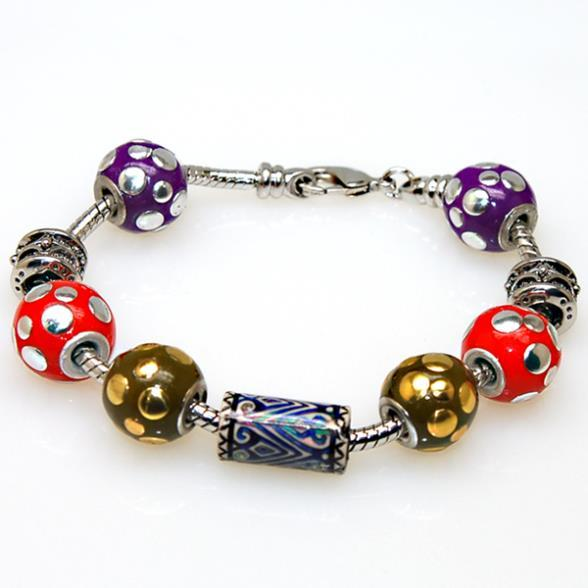 Hot sale high quality European Charm Chamilia Bracelet  rhodium plated,mood beads bracelet For Women Fashion Jewelry 50495