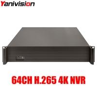 Yanivision 2U CCTV NVR H 265 H 264 64CH 4K 8MP 5MP 3MP 2MP 1080P Support