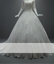 Vestido de novia 2017 Vintage A Line Lace font b Wedding b font Dress Half Sleeve