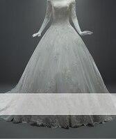 Vestido De Novia 2017 Vintage A Line Lace Wedding Dress Half Sleeve Bridal Gown