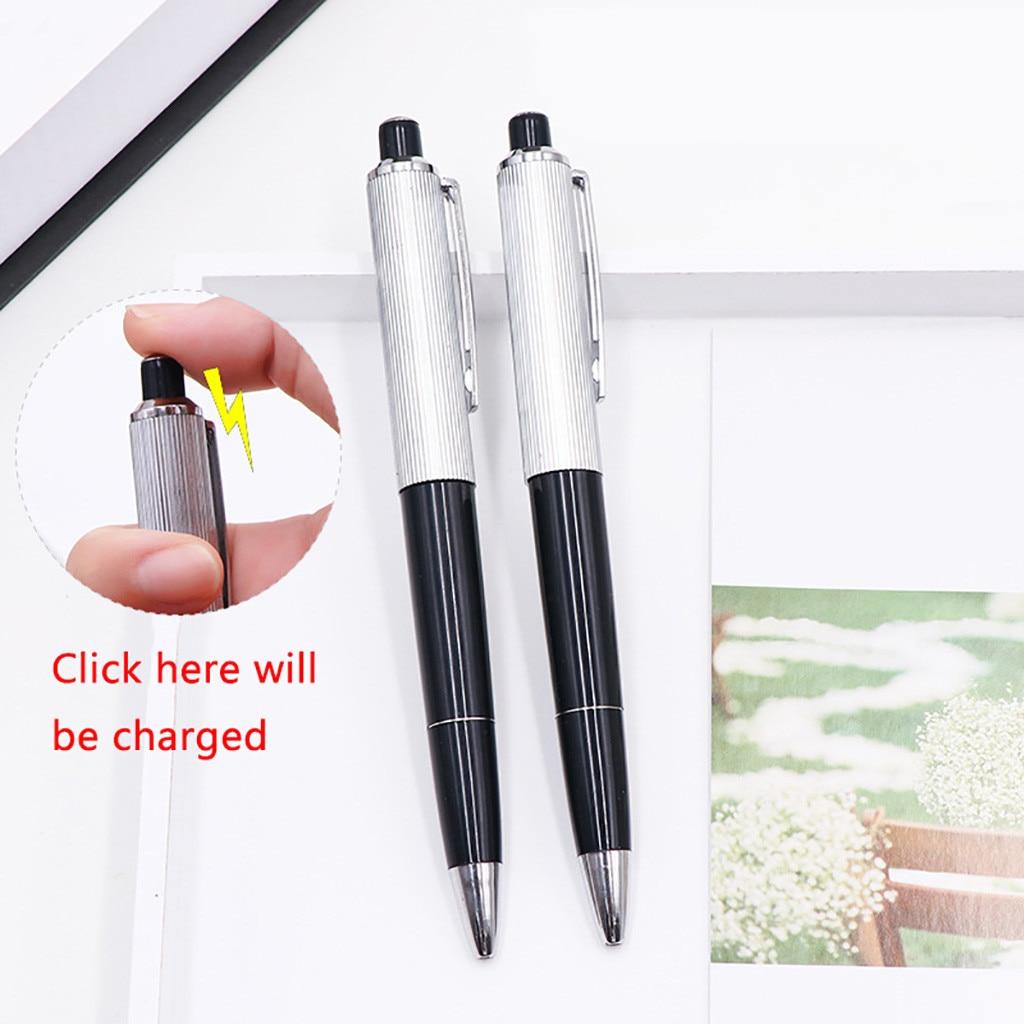 Electric Shock Pen Practical Joke Gag Prank Funny Trick Fun Gadget Black 01