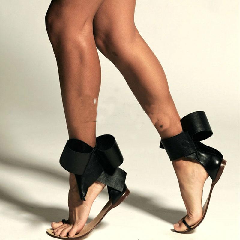 Talon Noir Femmes Chaussures Plat D'été Pour Bowknot Confortables Couverture Sandales Flops Adulte Flip Sandale Pu Talons 0nPOkw
