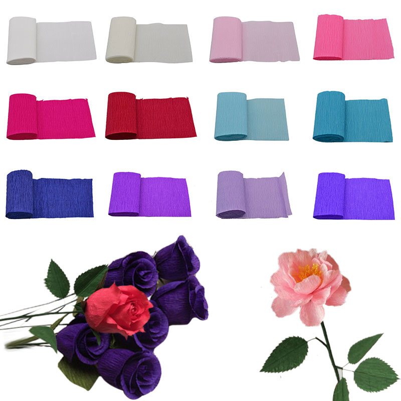 Hot sale 10x 250cm origami crepe paper craft diy flower wrapping 10x 250cm origami crepe paper craft diy flower wrapping fold scrapbooking gifts packing wedding party decoration wrapping paper mightylinksfo