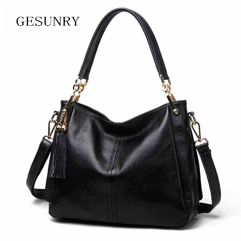Vogue Star Fashion 100% Real Genuine Leather OL Style Women Handbag Tote Bag Ladies Shoulder Bags Crossbody bags Wholesale price