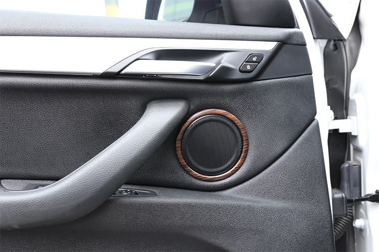 for BMW X1 f48 2016-2019 for BMW X2 F47 2018 2 Series F45 F46 2014-2019 Pine Wood Grain Car Door Speaker Ring Trims