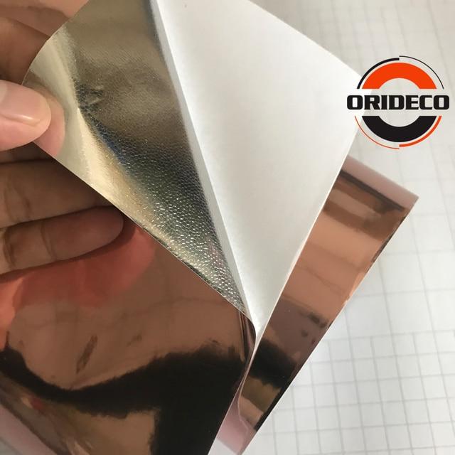 10/20/30/40/50*152CM High stretchable mirror rose gold Chrome Mirror flexible Vinyl Wrap Sheet Roll Film Car Sticker Decal Sheet