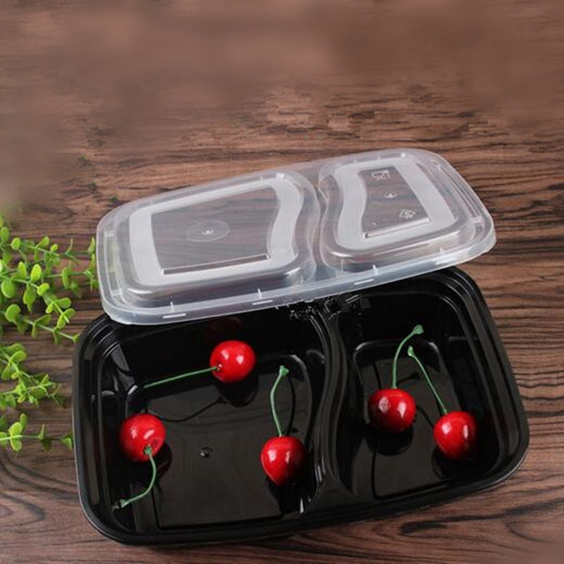 HOT!!!10Pcs/set Disposable Microwave Food Storage Safe Meal Prep Containers Kids Food Container Tableware Bento Dinner