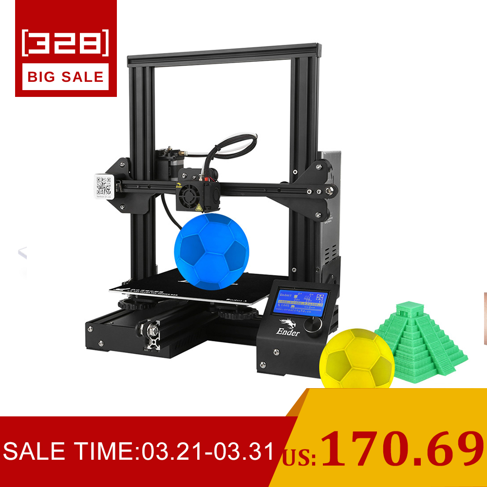 Newest Ender 3 Creality 3D Printer DIY Kit V slot prusa I3 Upgrade