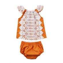 Newborn Toddler Baby Girl Summer Floral Outfits Babies Corchet Lace Shirt Tops Shorts Clothing SetSunsuit 2019 цена в Москве и Питере