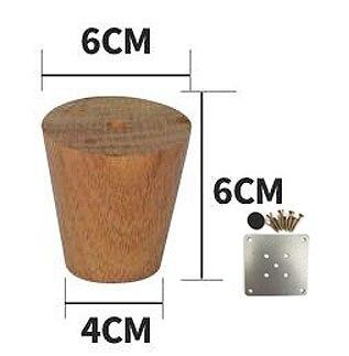 4Pieces/Lot  H:6CM  Diameter:4-6.5cm   Solid Wood Sofa Cupboard Legs Feet Furniture Parts