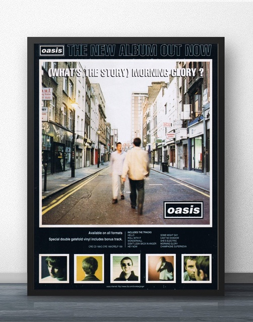 Oasis Whats The Story Morning Glory Movie Wall Art Wall Decor Silk Prints Art Poster Paintings & Oasis Whats The Story Morning Glory Movie Wall Art Wall Decor Silk ...