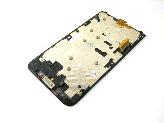 Замена Полный ЖК-Дисплей + Сенсорный Экран Digitizer + Front Рамка для BLACKBERRY Z30 4G LTE Черный