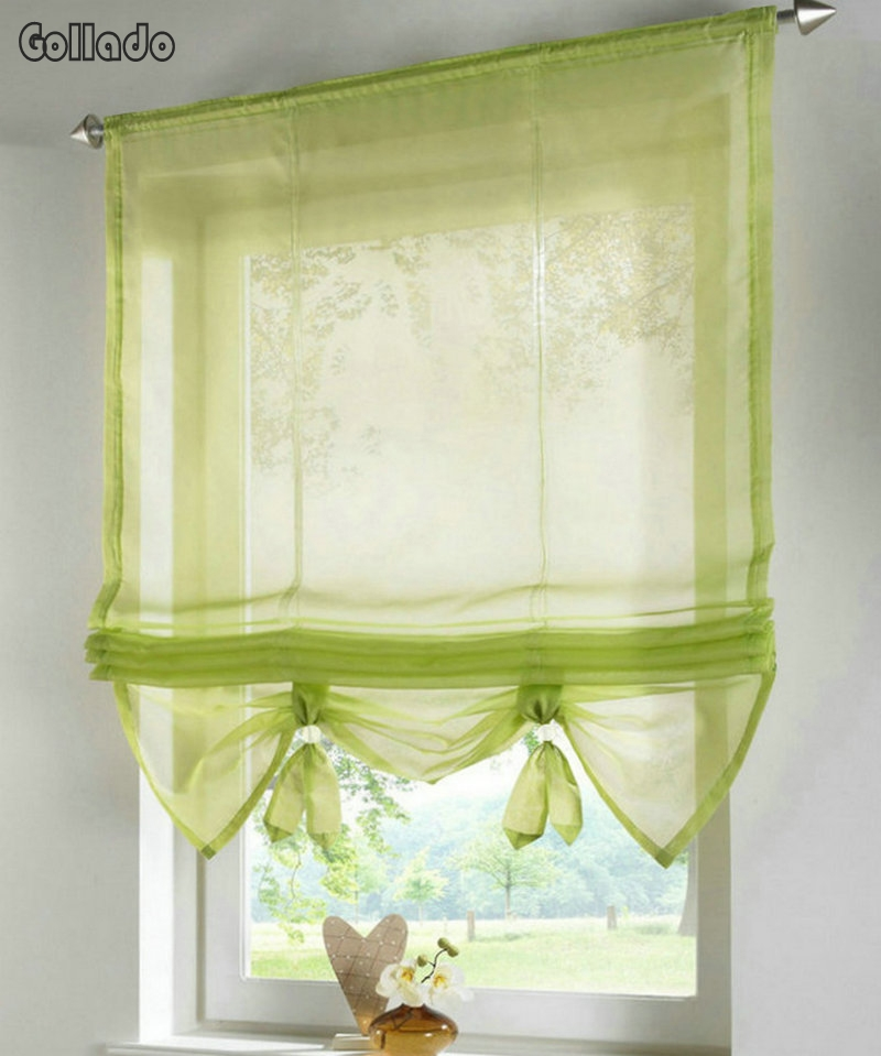 European Style Liftable Window Curtains Nice Sheer Voile
