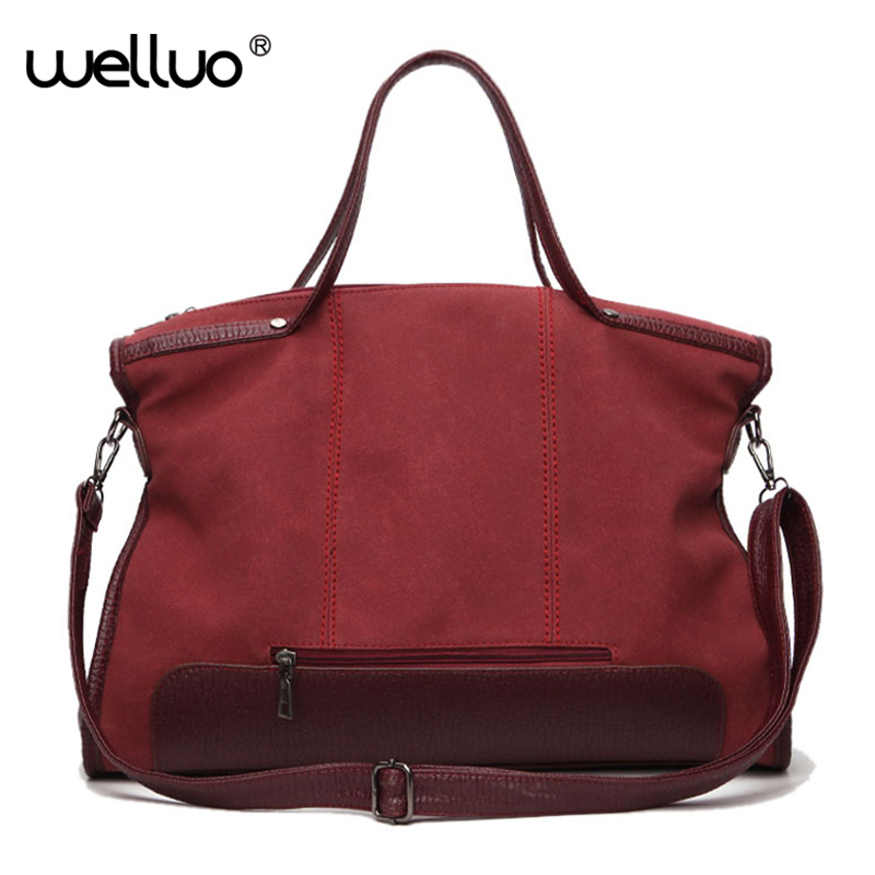 b634ac4046fa Fashion Leather Zipper Shoulder Crossbody Bag Women Handbag Casual Tote  Purse Messenger Bag Lady Retro Scrub Handbags XA573WB