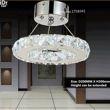 Modern K9 Crystal Ceiling Lights LED Bulbs lamps lustre Decorated living room dining bedroom Lighting Free shipping 0119