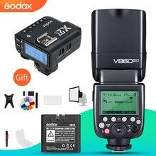 Godox V860II C V860II N V860II S V860II F V860II O TTL HSS Flaş ile X2T C/N/S/F/O Tetik canon Nikon Sony için Fuji Olympus