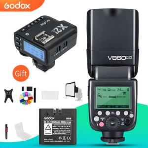 Image 1 - Godox V860II C V860II N V860II S V860II F V860II O TTL HSS フラッシュと X2T C/N/S/F/O トリガキヤノンニコン、ソニー、富士オリンパス