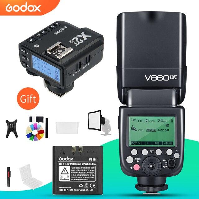 Godox V860II C V860II N V860II S V860II F V860II O TTL HSS フラッシュと X2T C/N/S/F/O トリガキヤノンニコン、ソニー、富士オリンパス