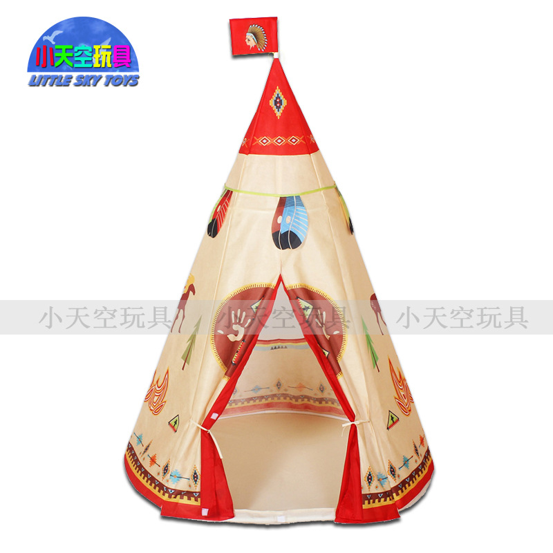New Portable Indian Children's Tent Children's Fairy Tale Game Room Play House Kids Play Tent Princess Tent image