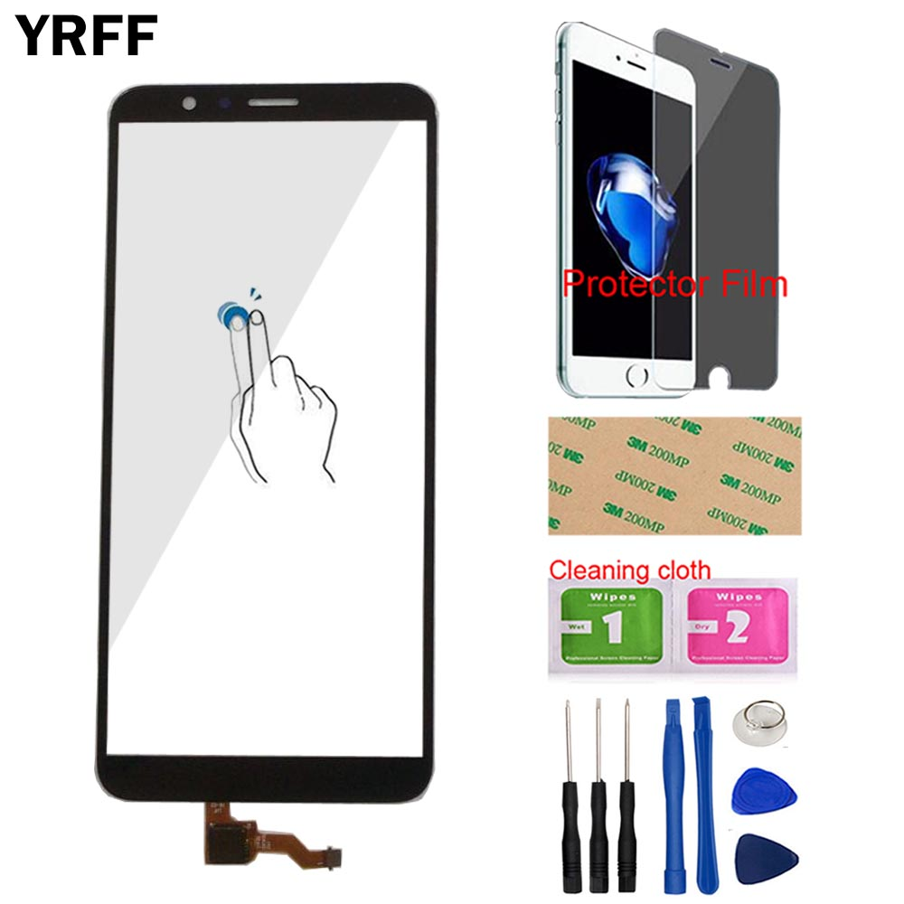 YRFF Touch Screen For Huawei Honor 7X Touch Screen Lens Sensor Touch Panel Mobile Digitizer Panel + Tools + Protector Film
