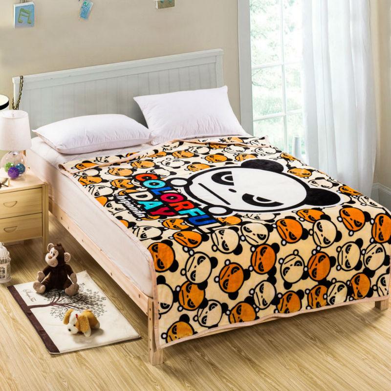 Flannel Light Brown Modern Panda Blankets Super Soft 100% Polyester Cartoon Blankets For Beds Thick Warm Kids Fleece Throw цены онлайн