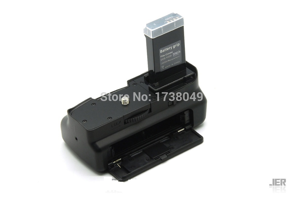 US $50 98 |Gripแบตเตอรี่สำหรับcanon eos 100d rebel sl1  DSLRกล้อง+สีขาวIRการควบคุม