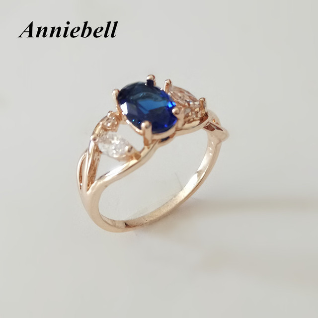 Anniebell Trendy Hot Sell 585 Rose Gold Color Engagement Jewelry New ...