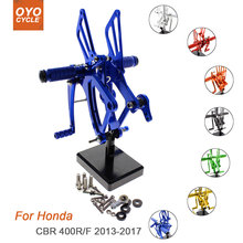 For Honda CBR 400R/F 2013-2017 Motorcycle Rear Set Accessories CNC Adjustable Rearset Foot Pegs CBR 400R 400F Foot Rests Footpeg прокачай свои деньги