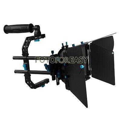 FOTGA DP3000 Matte Box Sunshade +C Cage Support Top Handle for 15mm Rod DSLR Rig fotga dp3000 top handle c cage bracket support rig for 15mm dslr rod follow focus