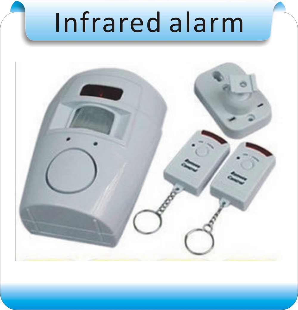 Free shipping Wireless remote control Infrared induction Home Office Doors /Windows Security Entry Burglar Contact Alarm System js 312 home infrared induction alarm device w 2 x remote controllers white eu plug